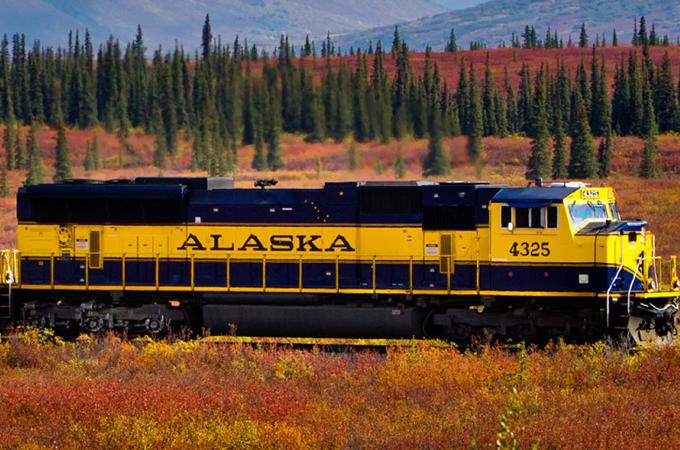 Turning 50 on a train in Alaska!